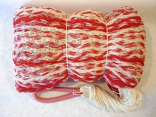 hojdacia sieť double natural červená