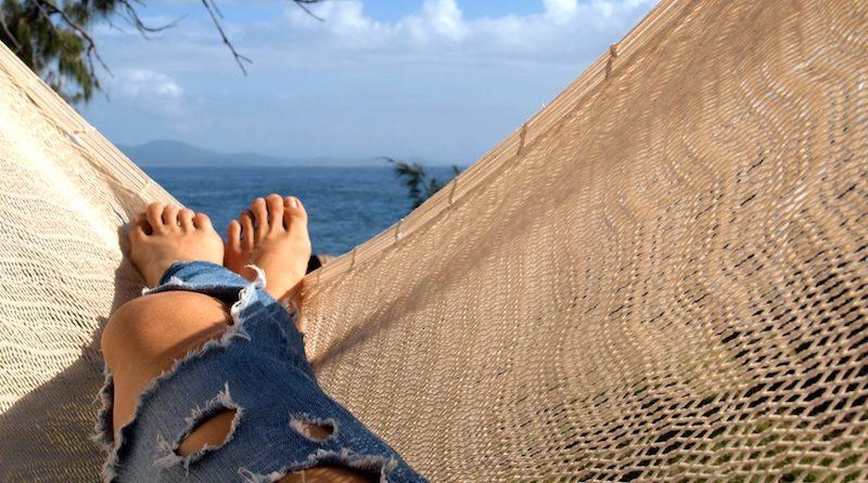 relax v hojdacej sieti