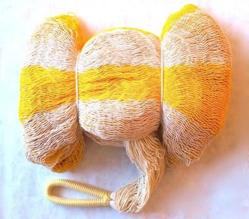 hojdacia sieť double natural žltá